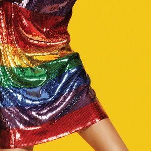 NWT Michael Kors Rainbow Sequin T Shirt Dress